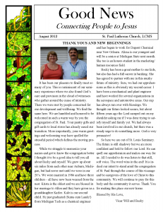 august good news newsletter available for download st paul lutheran church