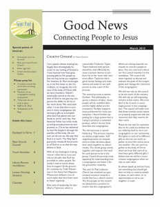 March 15 Newsletter Cover