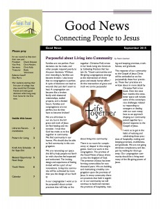 September 15 Newsletter cover