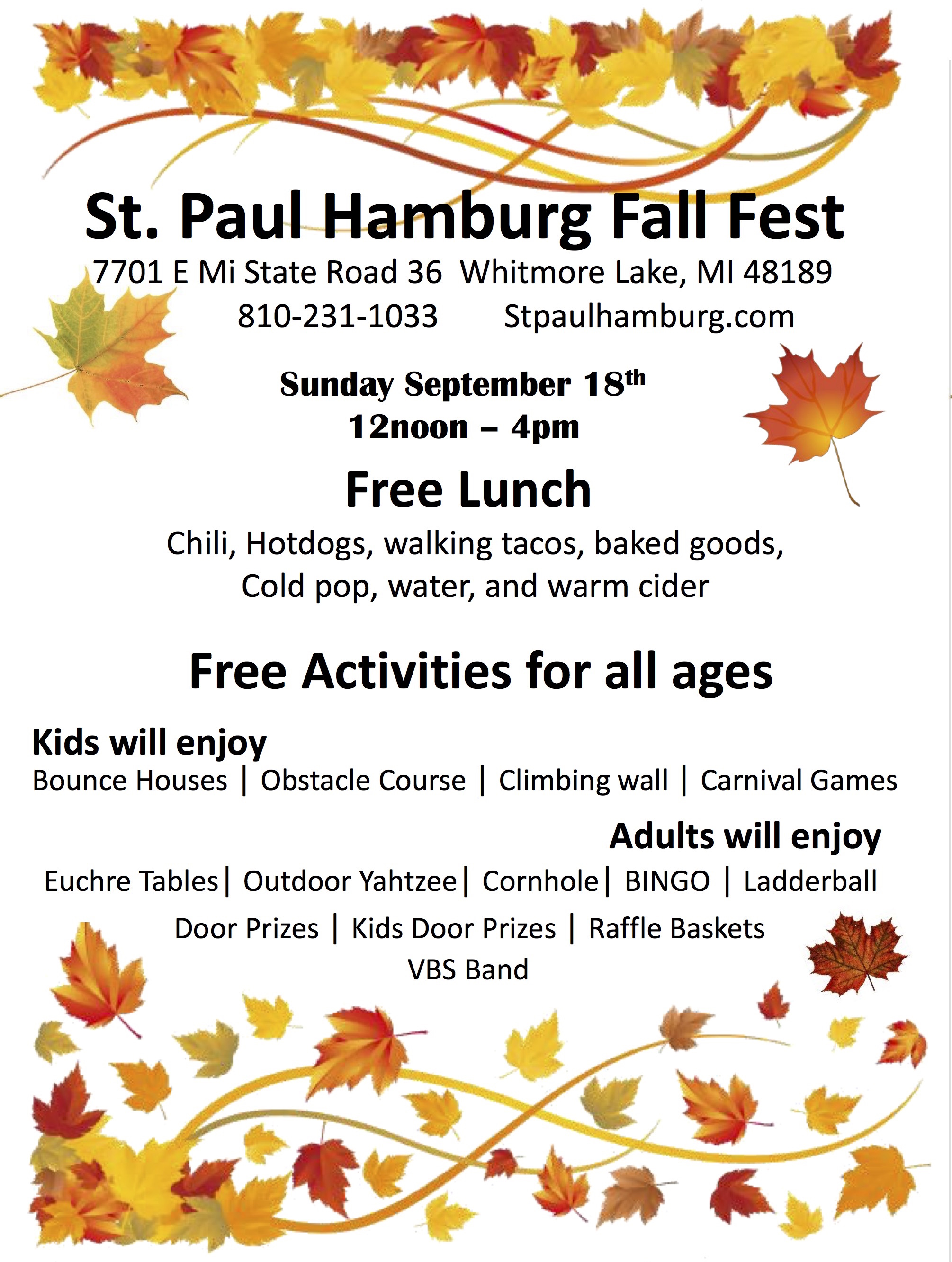 Fall Festival 2016 – St Paul Lutheran Church- Connecting