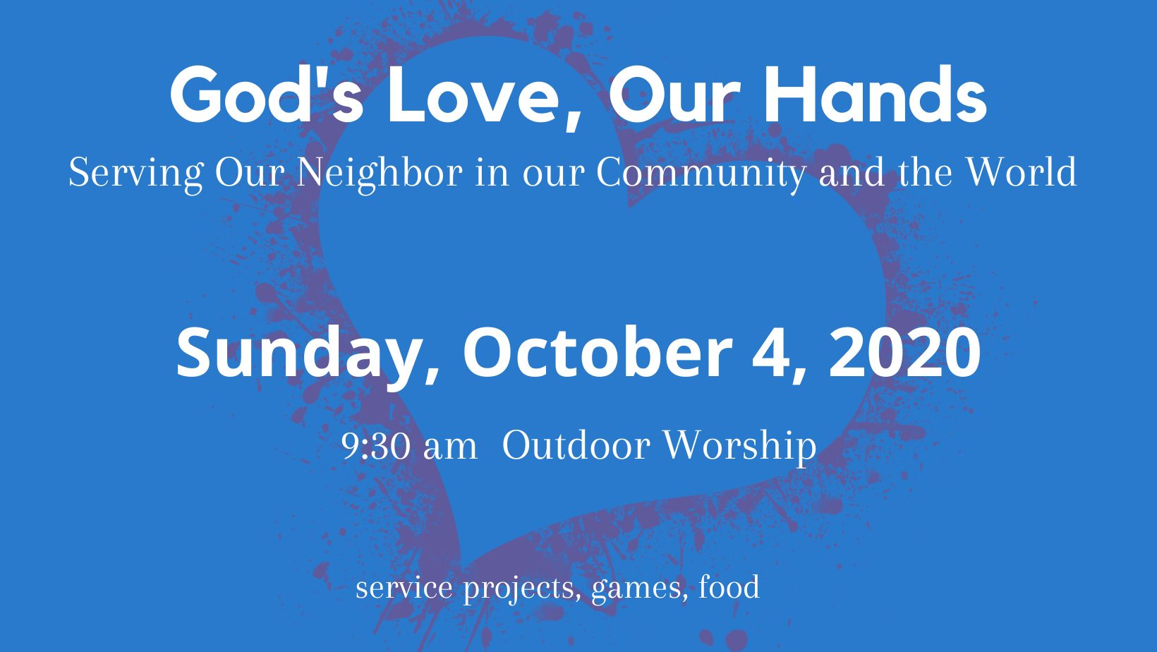 God's Love, Our Hands